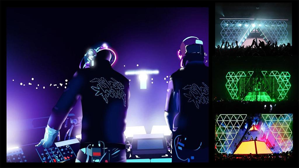 Palco concerto Daft Punk