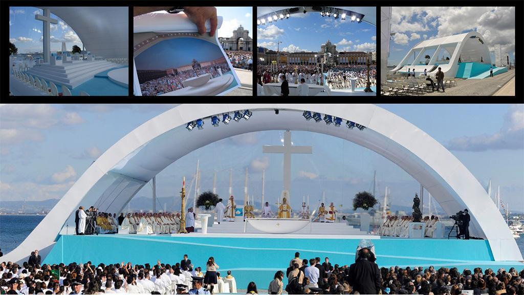 Placo Altar do Papa Bento XVI